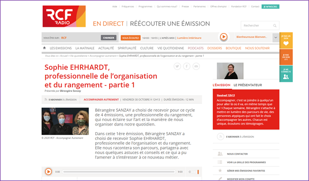 Interview Ordolys sur RCF Touraine